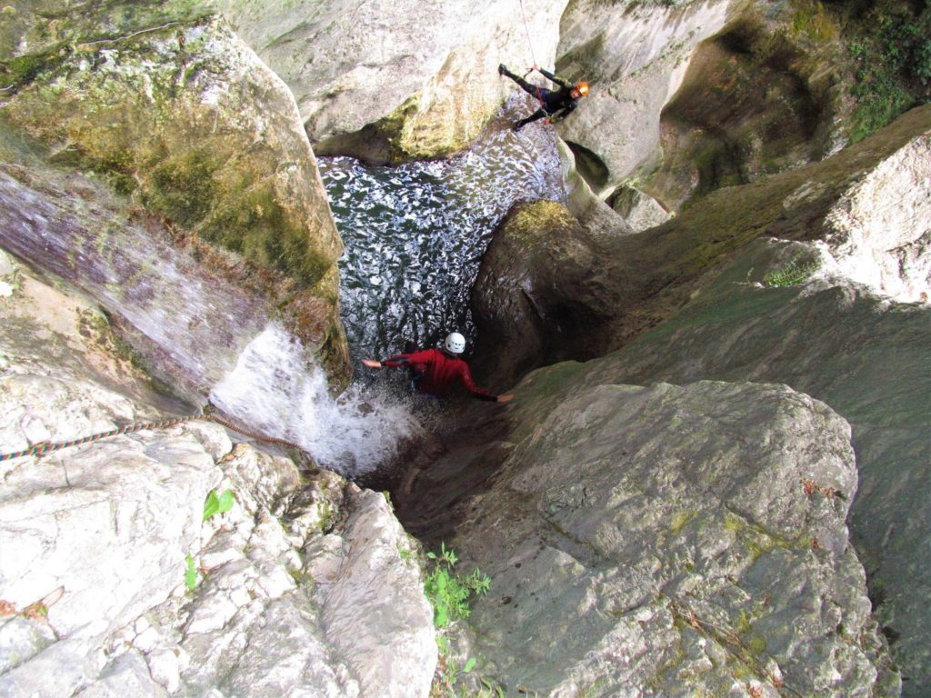 Canyoning Tour am Gardasee in der Vajo dell' Orsa