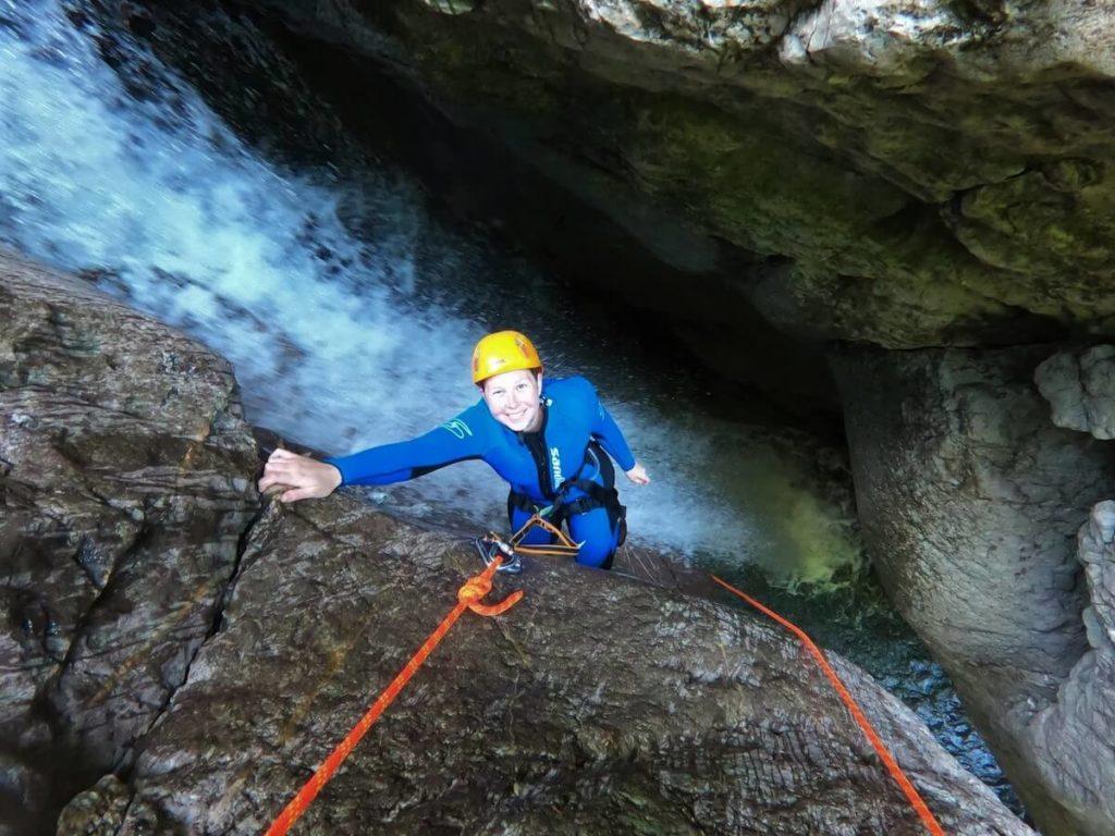 Canyoning Tour im Allgäu in der Starzlachklamm