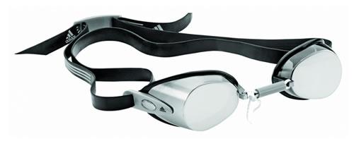 Schwimmbrille mit verspiegelten Gläsern