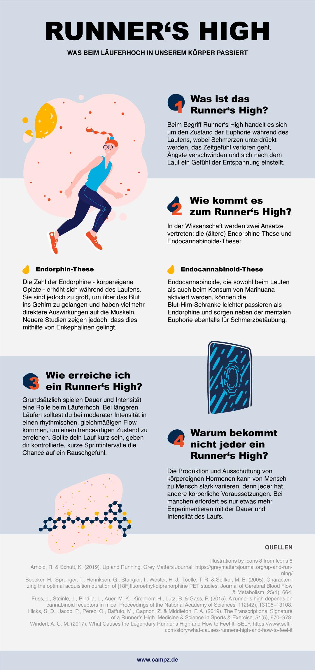 Runner's High Infografik