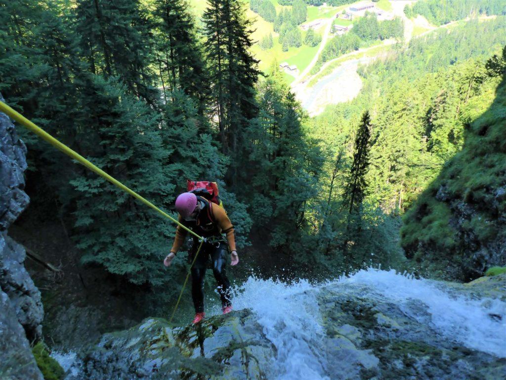 Canyoning Tour im Großen Walsertal im Stärisbach